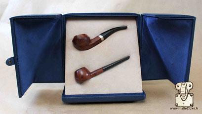 Ecrin sur mesure pour objet de collection 2 pipes Louis Vuitton