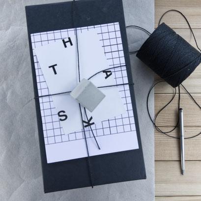 Concrete Cube OrnamentGift Wrap by PASiNGA