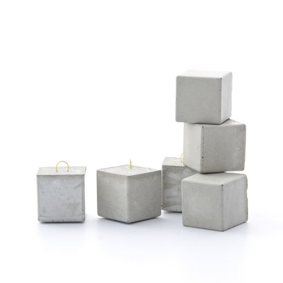 Concrete Cube Ornament by PASiNGA
