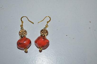 Modeschmuck Ohrringe aus alten Perlen handgefertigt. Unikat aus der Werkstatt von Zeitzeugen-Manufactur. 4,50 €