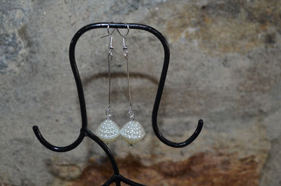 Modeschmuck Stab Ohrhänger, Unikat, Handarbeit. Design by Zeitzeugen-Manufactur. 4,50 €