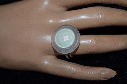 Statement Ring aus Aludraht und einem Musterknopf. Design by Zeitzeugen-Manufactur. Unikat, Handarbeit. 3,90 €