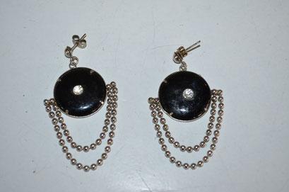Modeschmuck Ohrrringe aus den 1990er Jahren im Art Deco Stil. 4,00 €