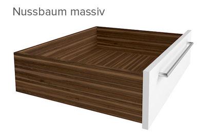 Schubkasten Nussbaum