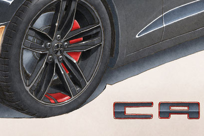 Having the rims painted in black, it is easily visible to see the red areas on it