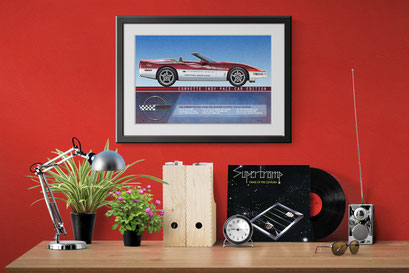 A look of the personalized printed drawing in a decoration context