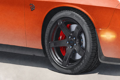 Tire treads and Pirelli P ZERO wall letterings are highly detailed