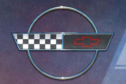 The C4 Corvette back end emblem is nicely rendered on this C4 Corvette artwork