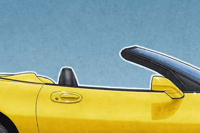 The Corvette C5 drawing is available in convertible body style
