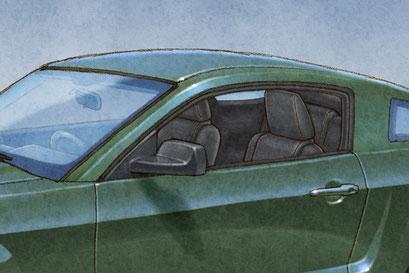 L'intérieur est tout aussi détaillé incluant la ceinture de sécurité et le siège arrière