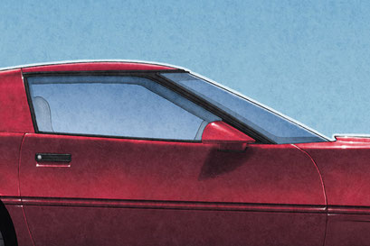 The coupe targa top may be black or body colored