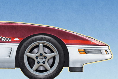 A cool new feature on the personalized version of the drawing is the addition of the tire Good Year Eagle GS-C lettering