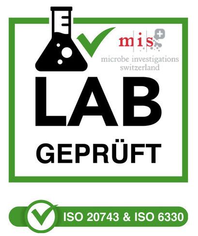 """Zertifikate & Prüfberichte zur """"Grimaske mit HeiQ Viroblock®"""" gibt es hier. Grimaske aus NRW - das Original von www.feld.de - Lab Test"""
