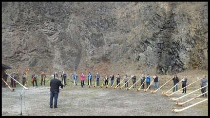 Alphornkonzert im Steinbruch