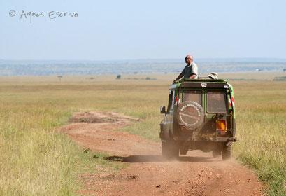 Sur la piste - Masaï Mara, février 2007