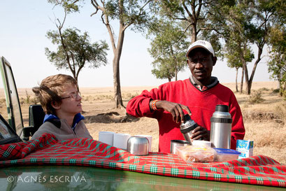 Pause café du matin, Masaï Mara août 2010