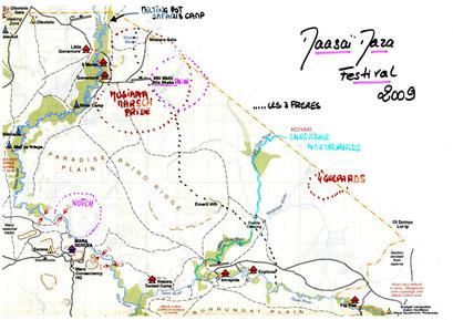 Carte de Masaï Mara, zone nord (Merci à Denis et Stéphanie)