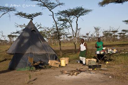Cuisine du campement à Ndutu  - Tanzanie février 2008