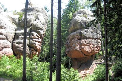 Sandsteinformationen - Kelchsteine