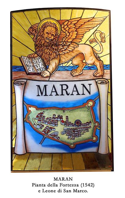 Vetrate del Duomo di Marano create dall'artista Pavon