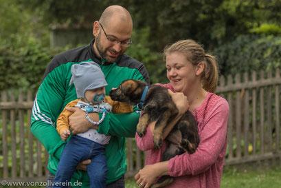 Carlotta, Corinna, Alexander und Andre