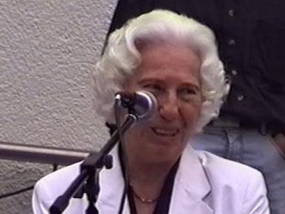 Rita Issberner-Haldane, Eigentümerin des Hotel Grunewald - Screenshot Elvis-Festival 2000, Elvis-Archiv Bad Nauheim