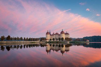 Schloss Moritzburg im Sonnenaufgang