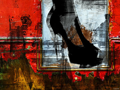 The people and the black shoe