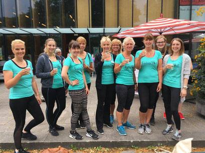 Ladies First Hamm: Gesundheitsmesse 2017, stolze Mitglieder nach der Vorführung