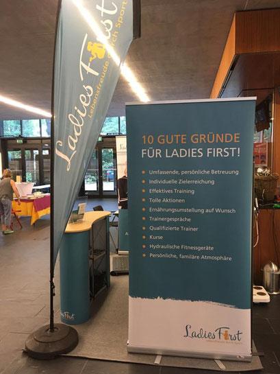 Ladies First Hamm, Gesundheitsmesse 2017 unser Messestand 10 gute Gründe