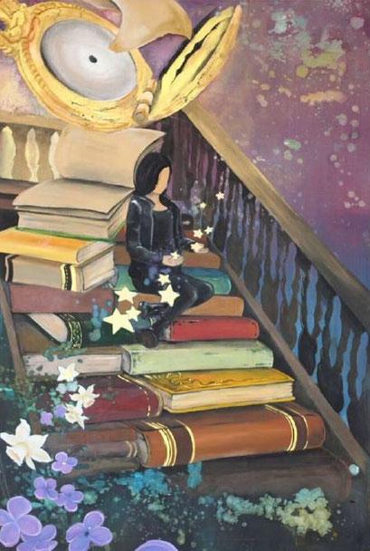 Riesige Büchereien ...