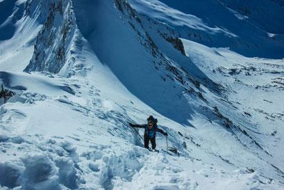Hoch hinauf geht's in Weißenbach im Winter nur mit den Tourenski oder mit den Schneeschuhen