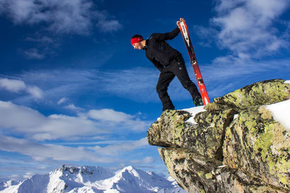 Geschafft - Gipfelsieg mit den Tourenski