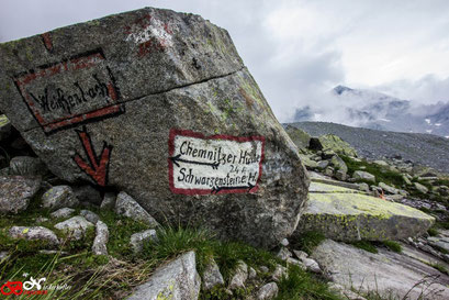 Wegweiser zur Chemnitzerhütte