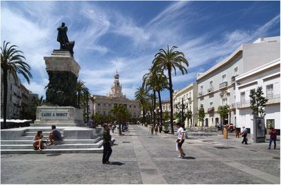 Spanien Cadiz, Plaza de San Juan de Dios, Rathaus