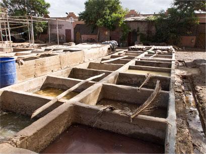 Gerberei in Taroudant, Marokko