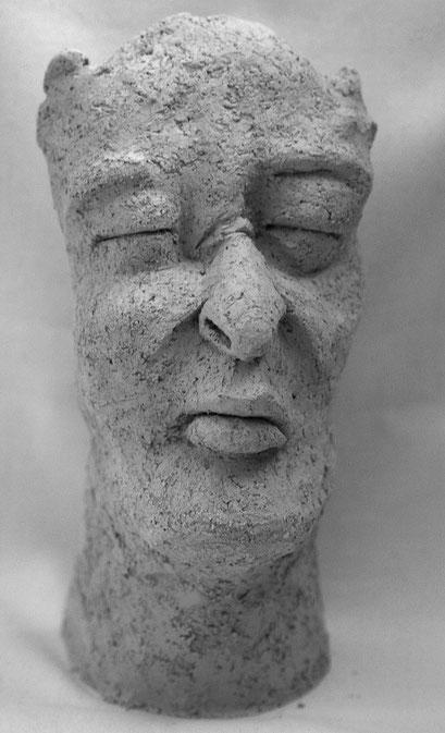 """""""Mit Hörnern"""", Keramik, 2013"""