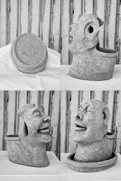 """""""Topf-Frau"""", Keramik, 2015"""
