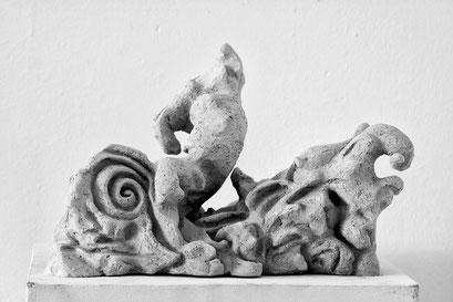"""""""Zuwasser"""", Keramik 2015 (Verkauft)"""