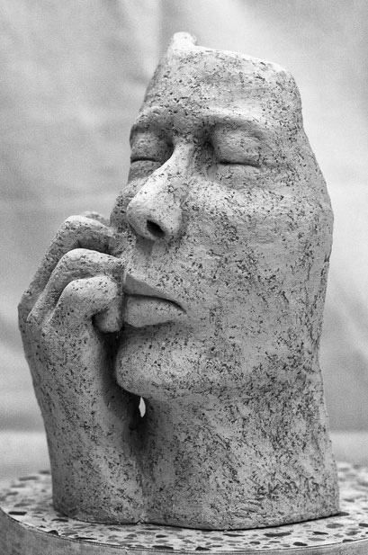 """Der Denker"", Keramik, 2013"
