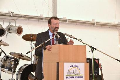 Begrüßung durch Herr Dr. Markus Cieslik Werksleiter Bernburg