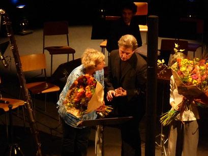 With Matthias Ziegler (La Côte Flute Festival 2015 - Suisse)