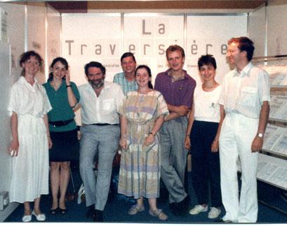 Avec Pierre Yves ARTAUD et l'équipe de La Traversière/With Pierre Yves ARTAUD and the team of La Traversière (French Flute Association 1988)