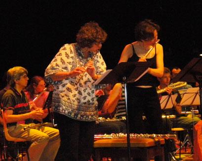 Avec/With Juliette HUREL (2009 - 1rst flute festival in Lyon )