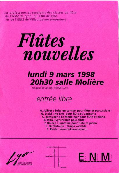 Affiche/Poster concert (1998)