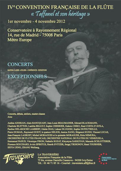 4° Convention Française de la Flûte/4th French Flute Convention (2012)