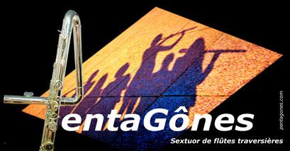 PentaGônes, sextuor de flûtes/Flute sextet - Logo