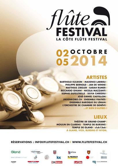 La Côte Flute Festival - Suisse/Switzerland 2015