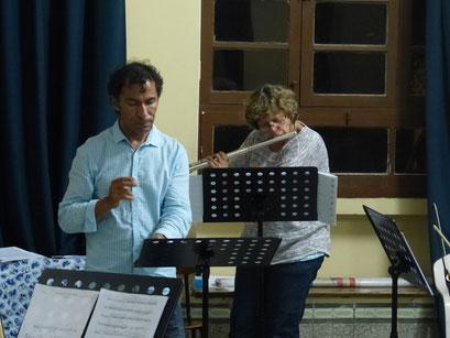 Avec Augusto Guzman (Orchestre Symphonique de Cochabamba - Bolivie 2015)
