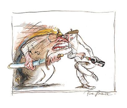 Peter Bauer, Rostock, Cartoon zu »halbTrocken«